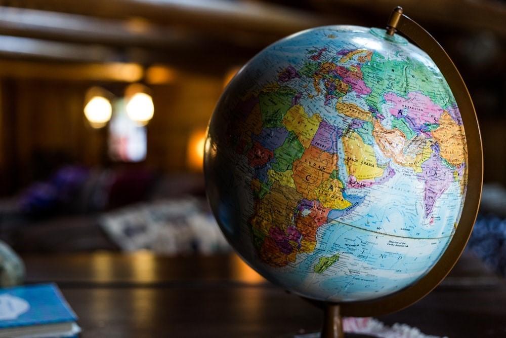 esk globe on table